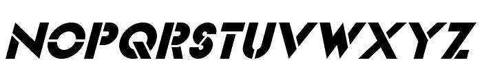 Videopac Italic Font UPPERCASE