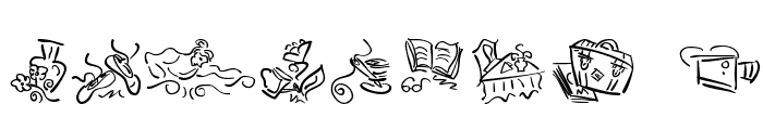 VignettSketches Font OTHER CHARS