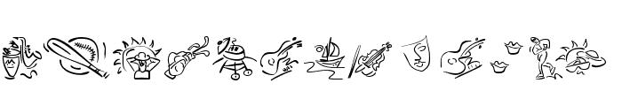 VignettSketches Font LOWERCASE
