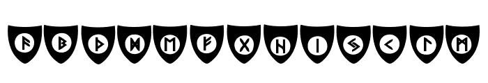 Viking Runes Shields Font UPPERCASE