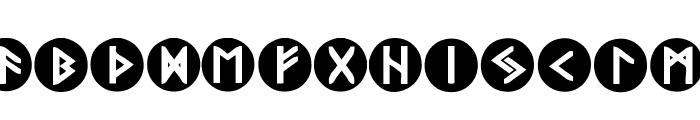Viking Runes Shields Font LOWERCASE