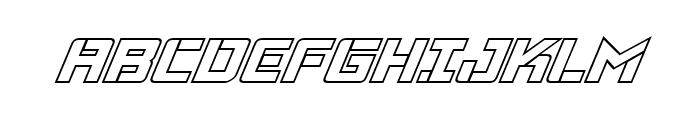 Viking Squad Outline Italic Font UPPERCASE