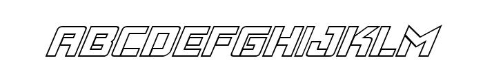 Viking Squad Outline Italic Font LOWERCASE