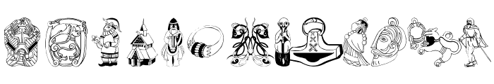VikingDesigns Font UPPERCASE