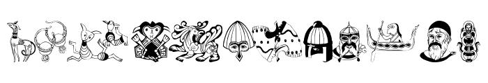 VikingDesigns Font LOWERCASE