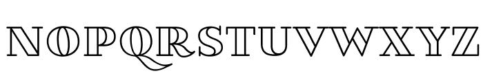 VillaDidot-Outline Font UPPERCASE