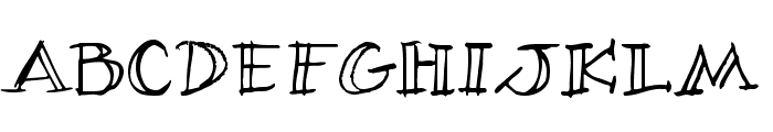 Village Idiot BB Font UPPERCASE