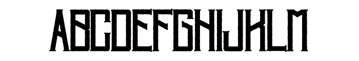 Villagers-Rough Font LOWERCASE