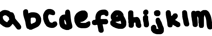 Vincent's Eyeball Font LOWERCASE
