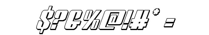 Vindicator 3D Italic Font OTHER CHARS