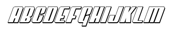 Vindicator 3D Italic Font LOWERCASE