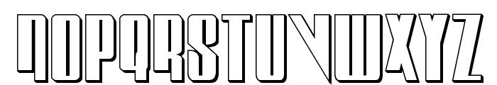 Vindicator 3D Regular Font UPPERCASE