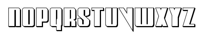 Vindicator 3D Regular Font LOWERCASE