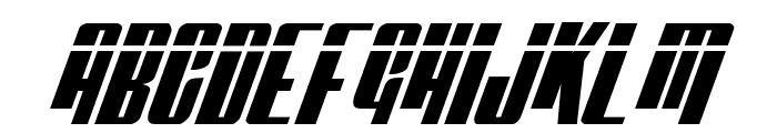 Vindicator Laser Italic Font UPPERCASE