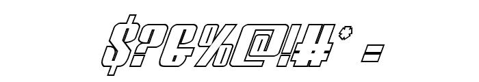 Vindicator Outline Italic Font OTHER CHARS
