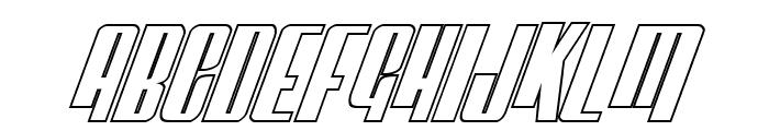 Vindicator Outline Italic Font UPPERCASE