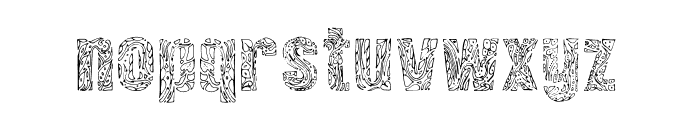 Vinegraphy Font LOWERCASE