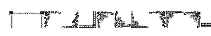 Vintage Decorative Corners 10 Font LOWERCASE