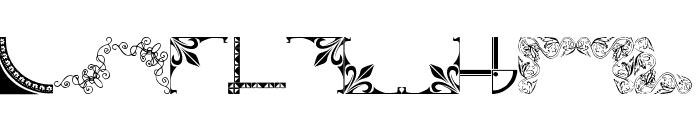Vintage Decorative Corners 7 Font LOWERCASE