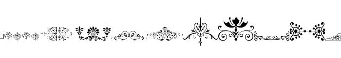 Vintage Decorative Signs 17 Font LOWERCASE