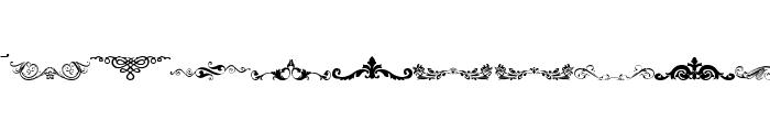 Vintage Decorative Signs 4 Font LOWERCASE