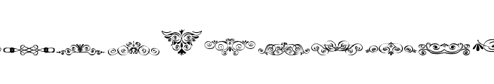 Vintage Decorative Signs 5 Font LOWERCASE