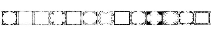 Vintage Frames 10 Font LOWERCASE