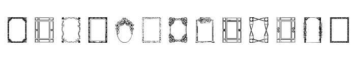 Vintage Frames 5 Font LOWERCASE