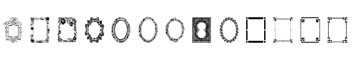 Vintage Frames 6 Font LOWERCASE