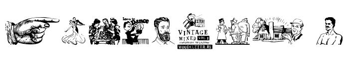 Vintage Mixed vol1 Font OTHER CHARS