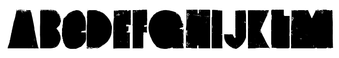 VintageDenim-SetB Font UPPERCASE