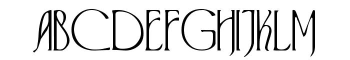 Virginia Font UPPERCASE