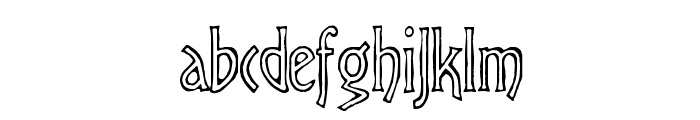 Virile Open Font LOWERCASE