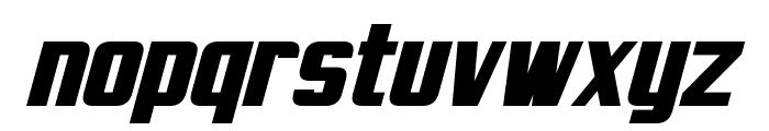 Virtucorp Bold Italic Font LOWERCASE