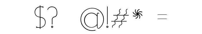 Visionair Font OTHER CHARS