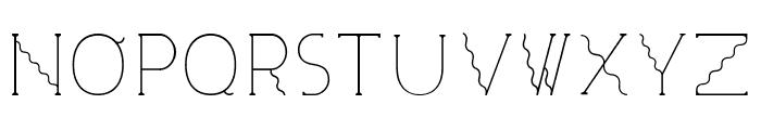 Visionair Font UPPERCASE