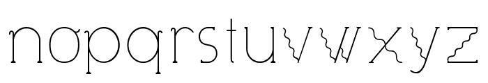 Visionair Font LOWERCASE