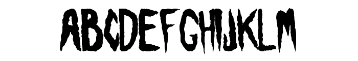 Visions of the Dead Font UPPERCASE