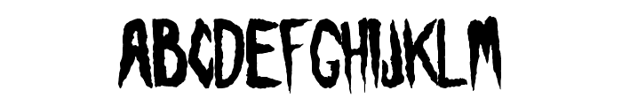 Visions of the Dead Font LOWERCASE