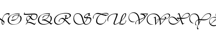 Vivaldi Italic Font UPPERCASE