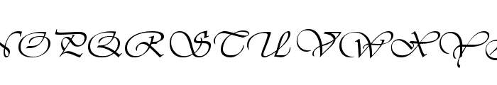 VivaldiD CL Font UPPERCASE
