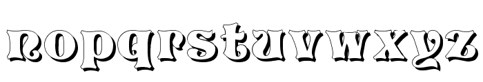 Vivian Shadow Font LOWERCASE