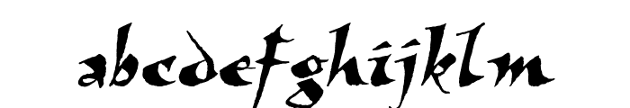 Viza Font LOWERCASE
