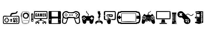 video games Font LOWERCASE