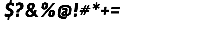 Via Sans Black Italic Font OTHER CHARS