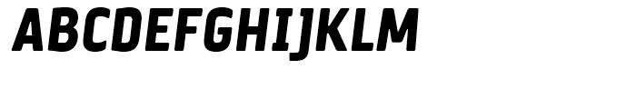 Via Sans Black Italic Font UPPERCASE