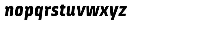 Via Sans Black Italic Font LOWERCASE