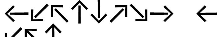 Vialog Signs Arrows Three Font UPPERCASE