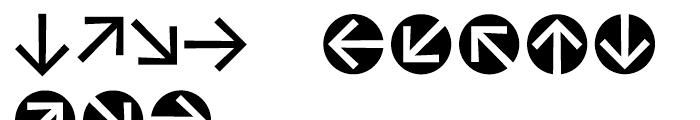 Vialog Signs Arrows Three Font LOWERCASE