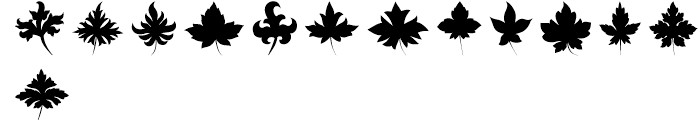 Victorian Leaf Ornaments Font LOWERCASE